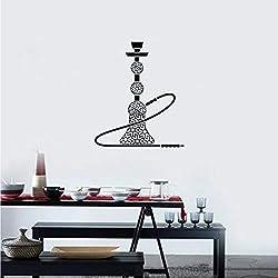yiyiyaya Narguilé Vinyle Sticker Shisha Bar Fumoir Arabe Style Autocollants Intérieurs Mural Amovible Vitrine Vitres 42 * 49cm