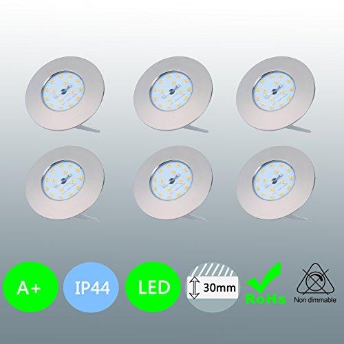 LED encastrable de salle Ultra Plat 6 x 5 W 230 V 400 lm LED Spot IP44 Convient Spot Pour la salle de bain