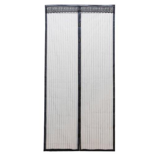 SurePromise One Stop Solution for Sourcing Cortina antimosquitos con Cierre magnético, para Puerta, Negro, 210cm