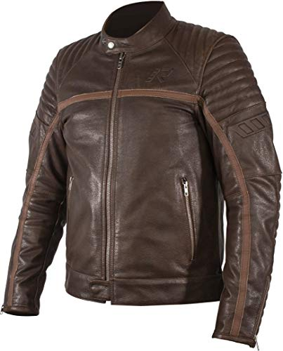 Rukka Markham Approvazione CE Giacca da Moto in Pelle Marrone Taglia EU56