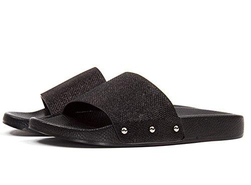happy-lily-damen-slip-auf-hausschuhe-rutschfeste-slide-sandalen-outdoor-mule-sommer-schuhe-schwarz-4