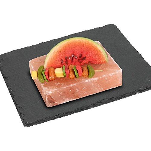 BBQ Himalaya Salzstein zum Grillen, Braten & Kühlen Salzblock - Himalaya-salz-block