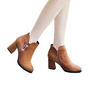 FeiBeauty Herbst und Winter Wildleder Kristall Ring mit Stiefel Trend High Heels