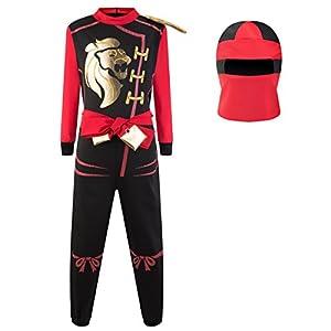 Katara - Disfraz de Ninja Guerreros - Disfraz Infantil para Niños, Costume de Ninja para Carnaval o Halloween, talla L, color rojo
