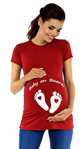 Zeta Ville - Camiseta divertido para embarazadas de Bebé pies - para...