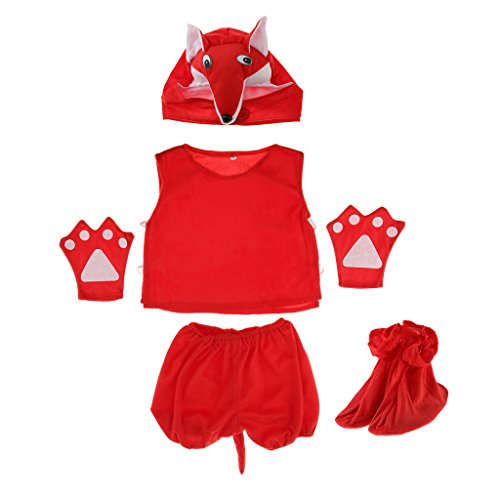 Mädchen Fuchs Kostüm - MagiDeal Kinder Tier Kostüm - Fuchs