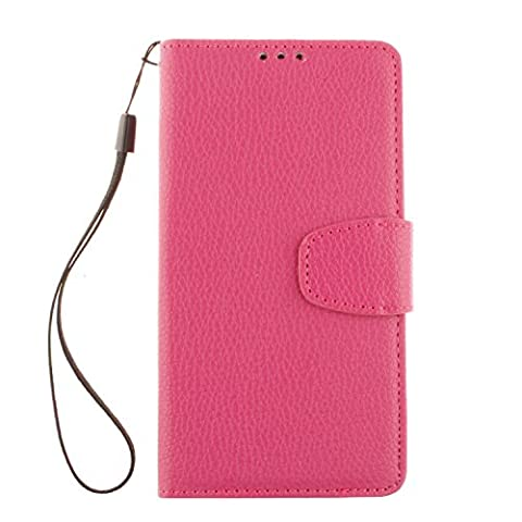 PU Leder heiß Rosa Schutzhülle für LGLBello(D331,D335)/LGLPrime(D337) case Wallet Schale