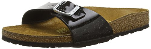 Birkenstock Madrid, Sandali Donna, Nero (Magic Galaxy Black), 39