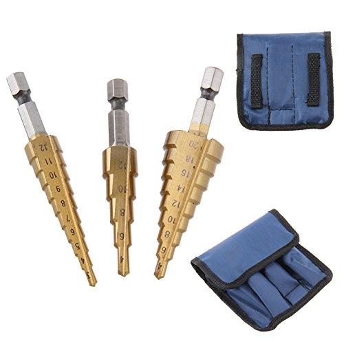OK 3HSS Schritt Cone HSS-Titan Stahl Metall Locher Cutter Bit