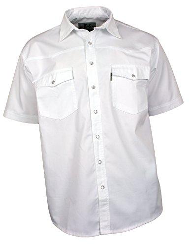 WESTERN-SPEICHER Jeanshemd Kurzarm Baumwolle weiß, Größe L (Kurzarm-jeanshemd Baumwolle)