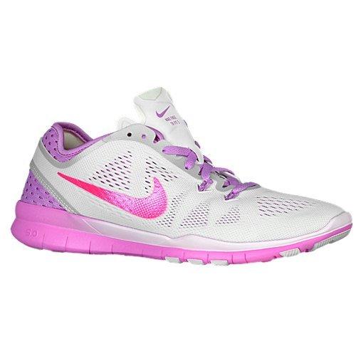 Nike Free 5.0 Tr Fit 5 Breathe (bianco/Fuchsia Glow/Fuchsia Flash) Women's Cross Training Scarpe (bianco/Fuchsia Glow/Fuchsia Flash)