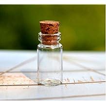 Ari_Mao Pequeñas Botellas de Vidrio de Corcho Decoradas Que Desean Paquete de Botellas de 5 Piezas