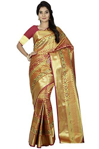 arars kanchipuram silk saree wedding/bridal collection With Blouse (240 PP MAROON)
