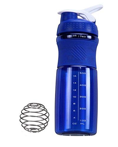 IShake Kool Sprint Shaker Bottle 700 ml (Blue Body, White Lid) …