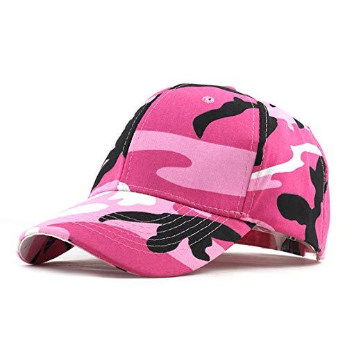BQMLKF Herren-Baseballmütze Männer Frauen Camouflage Camo CapKlettern Baseball Cap Jagd Angeln Desert Hat Trucker Papa Mütze, Pink Pink Angel Hat