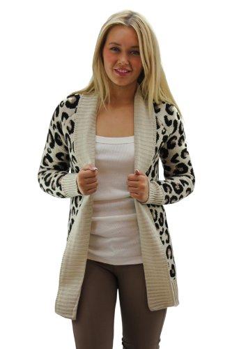 Fashion Charming, cardigan da donna leopardato Leopard M/L