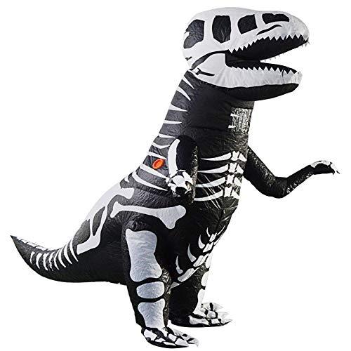 YANKAN Knochen Tyrannosaurus DrachenkostüM, Halloween KüRbis Erwachsenen Aufblasbare KostüM-Party Cosplay KostüM Cartoon Doll Inflatab Le, Die Kleidung, Batterie Aufblasbar Mit Eingebautem (Kürbis Kostüme Erwachsene)