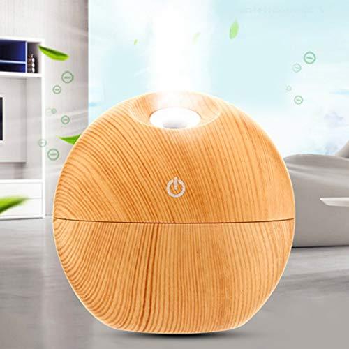Diffuseur d'huile essentielle d'humidificateur d'air de boule ronde créative Purificateur d'air coloré de nuit de LED pour le bureau à la maison Aromatherapy