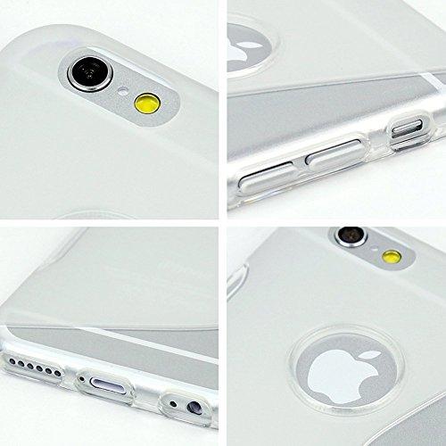 wortek® TPU Silikon Schutzhülle S-Line + extra Grip mit Logoausschnitt Apple iPhone 6 Plus (5,5 Zoll) Transparent iPhone 6 Plus - Transparent
