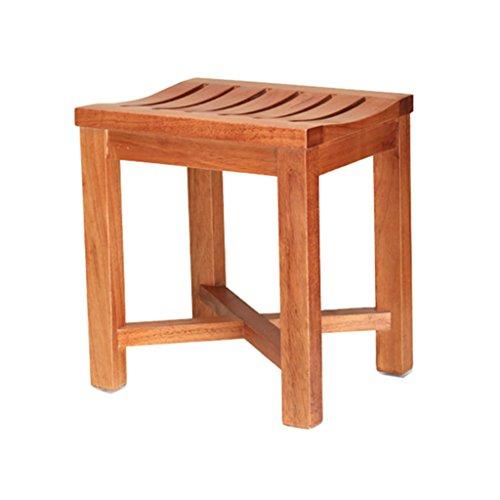 Dusch- / Badhocker Holz-Duschhocker für ältere Menschen/Behinderte Rutschfester, robuster Kreuzverstärkungs-Duschsitz Hocker für Dusche/Bad/max. 250 kg (42 * 34 * 46 cm)