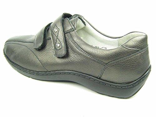 Waldläufer  496301-172-014, Mocassins pour femme Gris