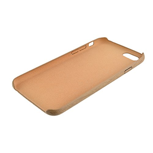 GrandEver Coque Silicone pour iPhone 5 iPhone 5S TPU Housse Bois Bambou Cas Brun Motif Souple Doux Wood Print Back Cover Protecteur Bumper Case Flexible Design de Mode Haute Qualite Anti-Rayures + {St Couleur claire