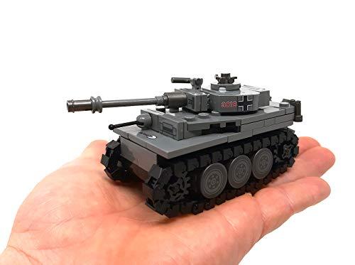 Modbrix 2487 – ☠ Bausteine Tiger Panzer XX Panzerdivison inkl. Custom Elite Wehrmacht Soldaten aus Lego© Teilen ☠ - 5