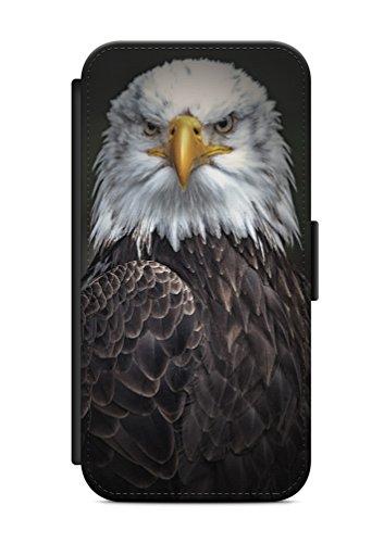 aina Geeignet für Samsung Galaxy S7 Flipcase Handytasche Hülle mit Magnetverschluss auffklappbar Adler Motiv Bild