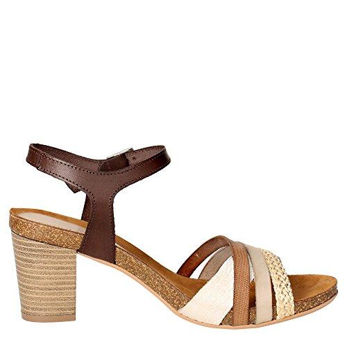 Grunland SB0679-83 Sandalo Donna Cuoio