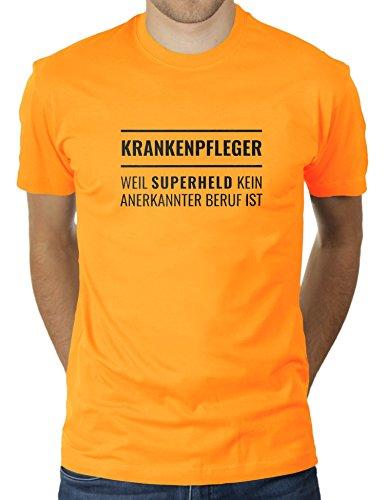 Krankenpfleger Weil Superheld Kein Anerkannter Beruf ist - Herren T-Shirt von KaterLikoli, Gr. 3XL, Gold Yellow -