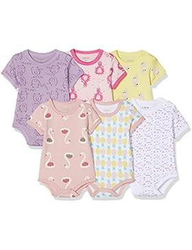 Care Baby - Mädchen Kurzarm-Body 3-pack und 6-pack