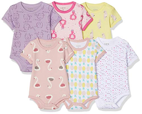Care Baby - Mädchen Kurzarm-Body im 6er Pack, (Pink 569)-2, 56