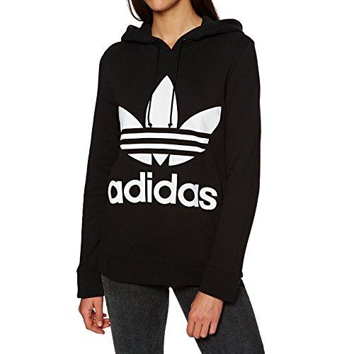 Adidas trefoil Pull à capuche Femme noir