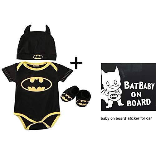 Tyoumay Baby Body Jungen Body Superhero Kurzarm Junge Comics Baby Strampler Aufkleber Aufkleber Sicherheit Vorsicht Zeichen für Autofenster schwarz lustige Aufkleber Autoaufkleber