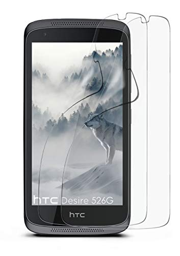 2X HTC Desire 526G | Schutzfolie Matt Bildschirm Schutz [Anti-Reflex] Screen Protector Fingerprint Handy-Folie Matte Bildschirmschutz-Folie für HTC Desire 526G/526 G Plus Bildschirmfolie