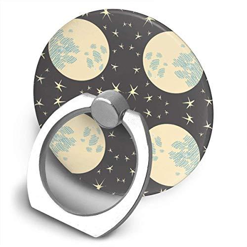 Nicegift Moon and Stars Phone Ring Stand Holder - Cell Phone Ring Holder Finger Grip 360 Degree Rotation Glitter Stars Black Shield