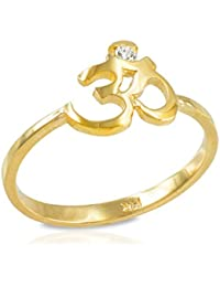 Little Treasures - 10ct Dainty Gold Om (aum) Diamond Ring