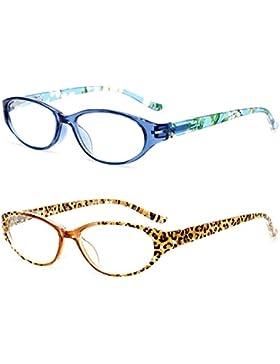 VEVESMUNDO Gafas de Lectura Mujer Hombre Flores Pequeñas Presbicia Vintage Diseño Leer Graduadas Vista Trabajo...
