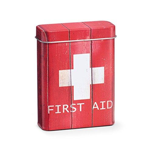 Zeller Medizin-Box First Aid, Metall, rot