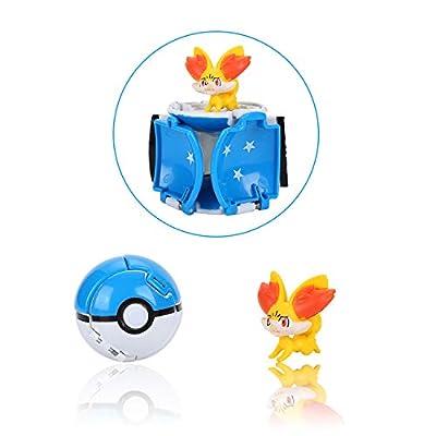 Pokemon, Poké Bolas Pokéball, Mini Figure Pokemon, Pokeball Throw Figura Regalos y Fiestas para Niños de Colfeel