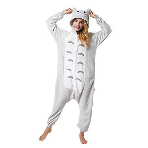 Katara 1744 - Katze Kostüm-Anzug Onesie/Jumpsuit Einteiler Body für Erwachsene Damen Herren als Pyjama oder Schlafanzug Unisex - viele verschiedene (Katze Ganzkörper Halloween Kostüm)