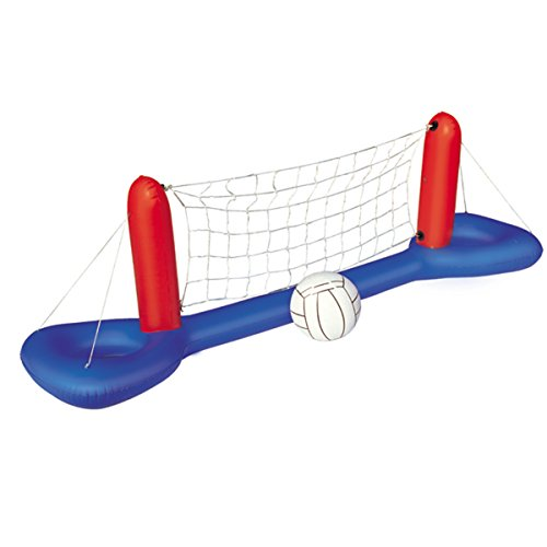 Aufblasbares Pool Wasserball Volleyball-Set Netz + Ball