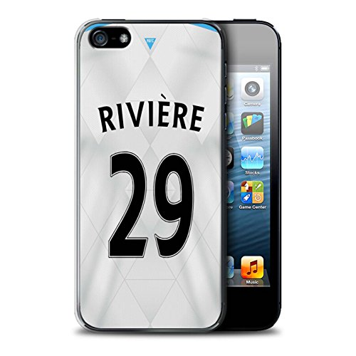 Offiziell Newcastle United FC Hülle / Case für Apple iPhone SE / Pack 29pcs Muster / NUFC Trikot Away 15/16 Kollektion Rivière
