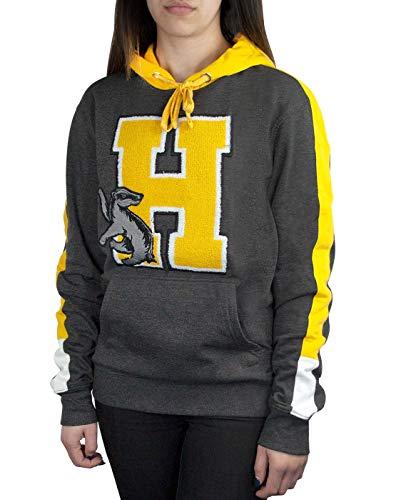 Harry Potter Hogwarts Hufflepuff H Patch Logo Premium Hoody/Hoodie Universal Logo Hoody Sweatshirt