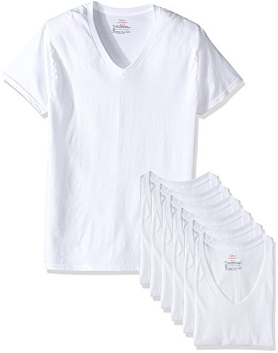 hanes-mens-white-tagless-comfortsoft-v-neck-undershirt-777vg7-m-white