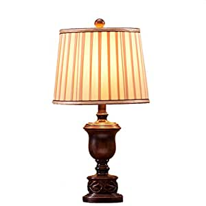 Gyp retro resin engraving table lamp bedroom bedside lamp - What size table lamp for living room ...