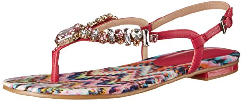 Nine West Zui Synthétique Tongs Printed Pink