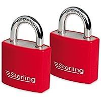 Sterling 100/ASP 10/mm x 1,0/m Fall geh/ärtete Kette und 92/mm Doppel-Schlitz und Stahl Vorh/ängeschloss Set