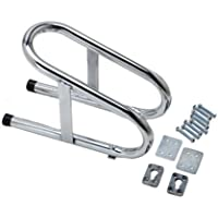 Pit Posse Motorcycle Removable Wheel Chock Nest Tire Trailer Chrome 5 Year Warranty 3 1/2 by Pit Posse