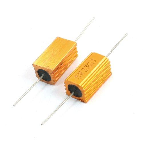 sourcingmapr-2-pcs-or-ton-fil-axial-aluminium-bardage-resistance-5-watts-33-ohm